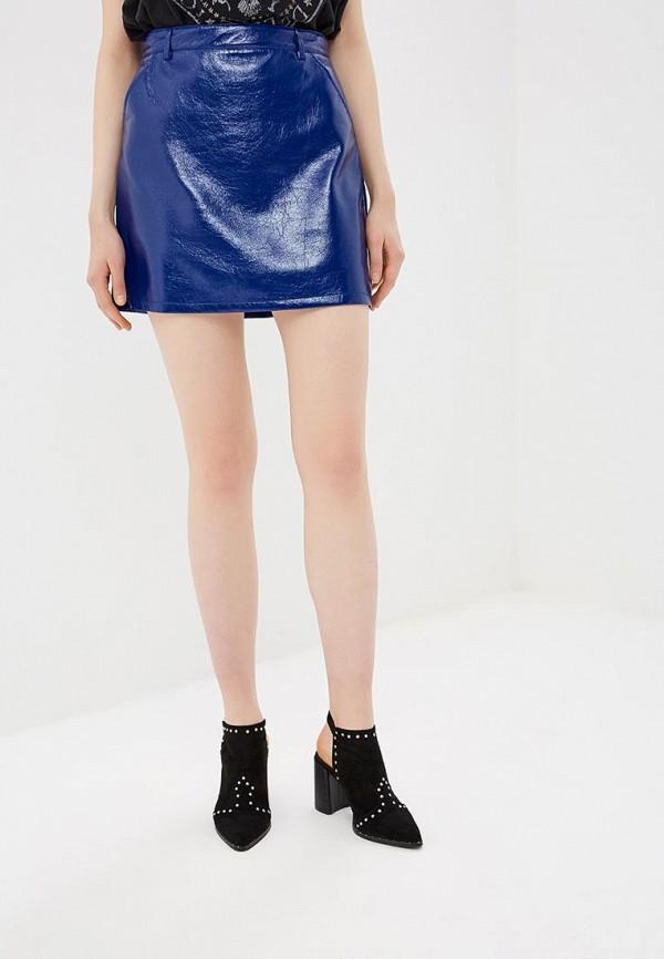 женская юбка by swan, синяя