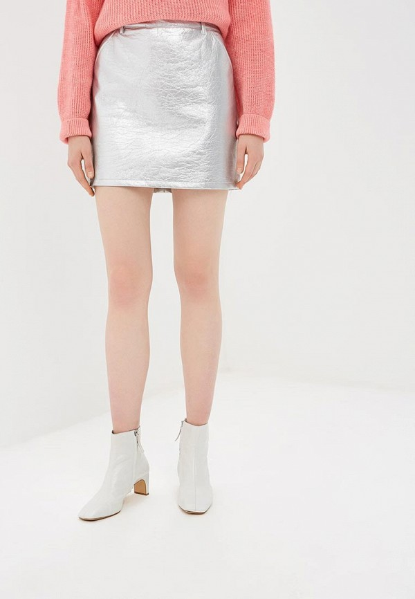 женская юбка by swan, серебряная