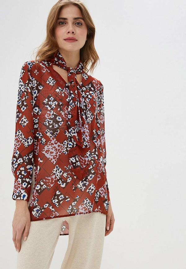 женская блузка by swan, коричневая