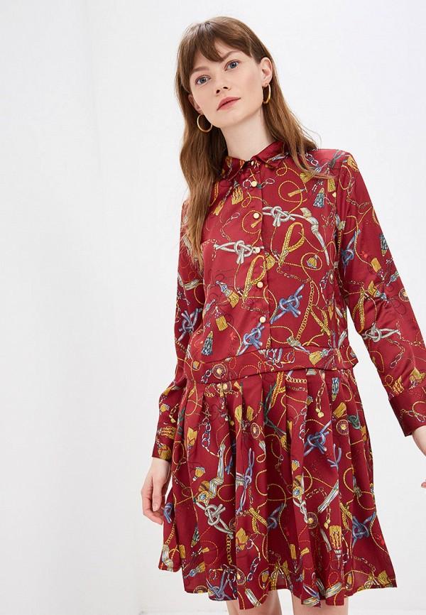 женское повседневные платье by swan, бордовое