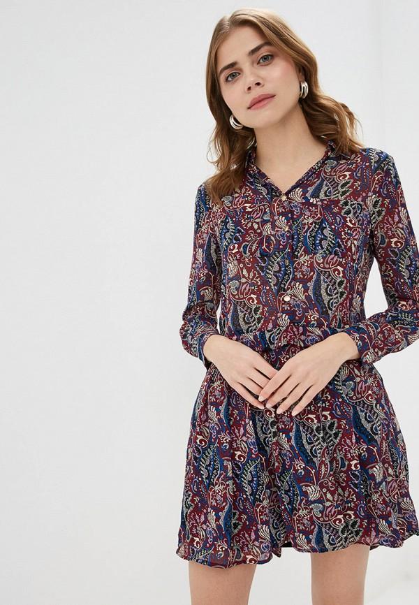 женское платье by swan, бордовое