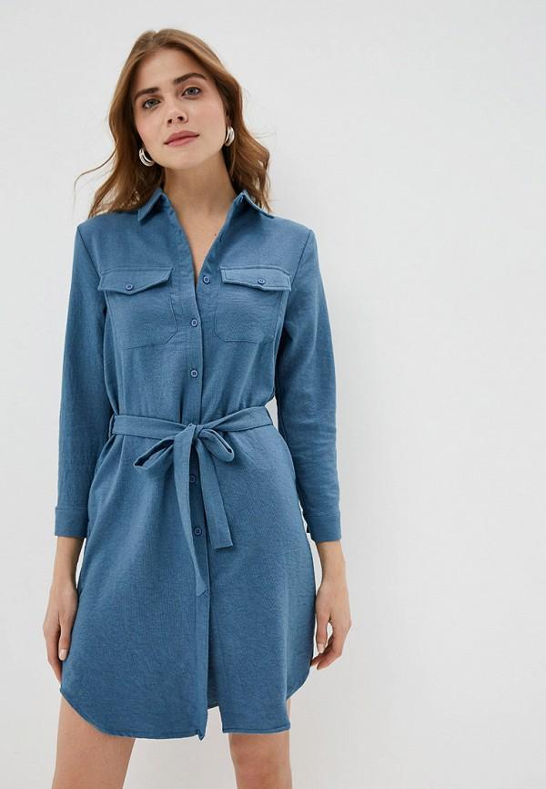 женское платье by swan, голубое