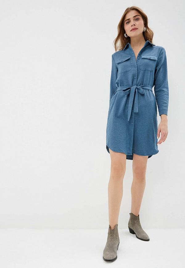 Фото 2 - женское платье By Swan голубого цвета