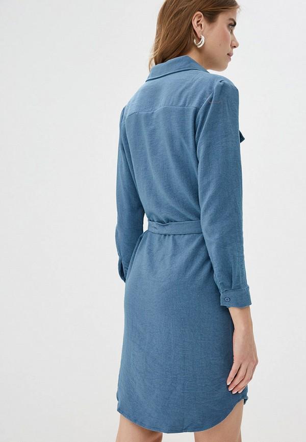 Фото 3 - женское платье By Swan голубого цвета