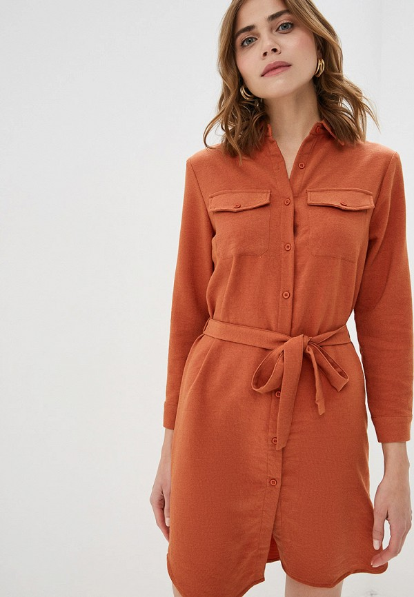 женское платье by swan, оранжевое