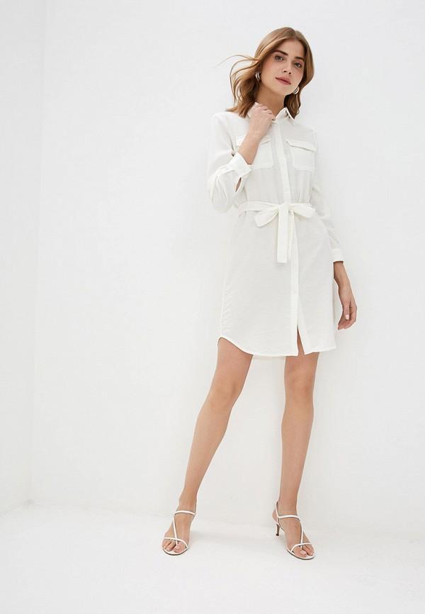 Фото 2 - женское платье By Swan белого цвета
