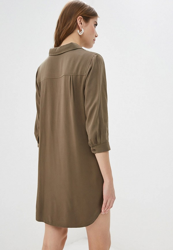 Фото 3 - женское платье By Swan цвета хаки