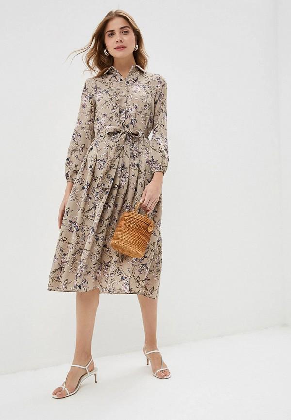 Фото 2 - женское платье By Swan бежевого цвета