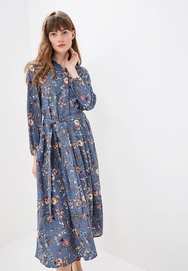 женское повседневные платье by swan, синее