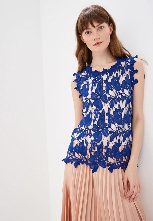 женская блузка by swan, синяя