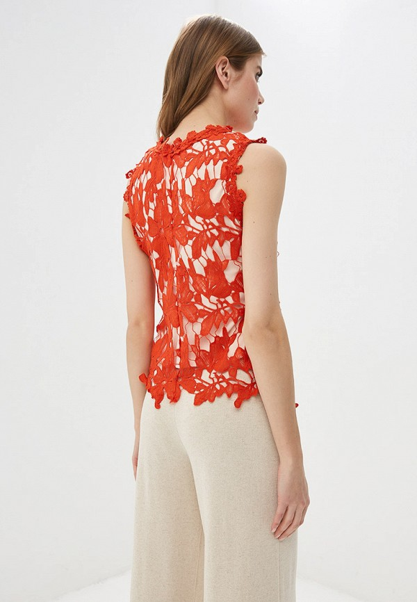 Фото 3 - женский топ By Swan оранжевого цвета
