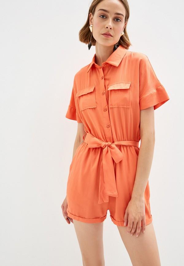 женский комбинезон by swan, оранжевый