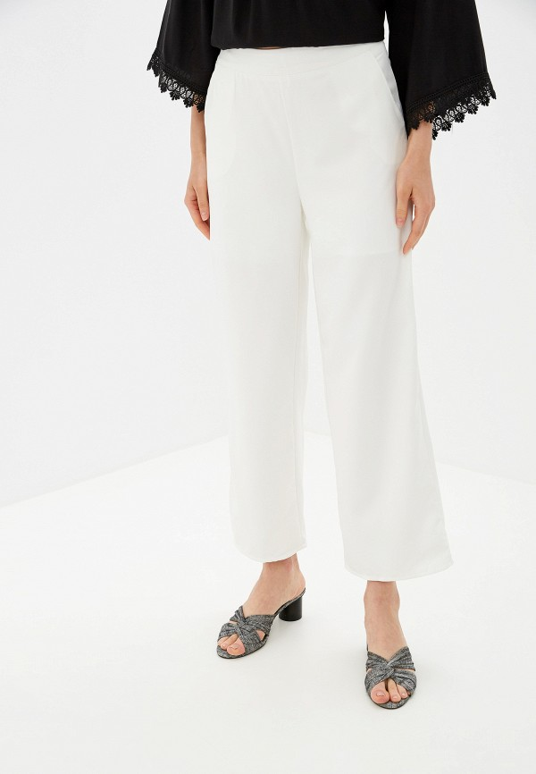 женские повседневные брюки by swan, белые