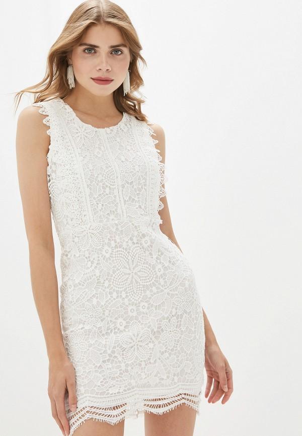 женское повседневные платье by swan, белое