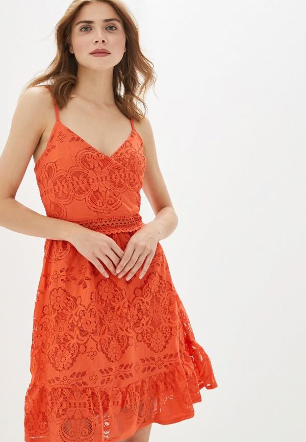 женское повседневные платье by swan, красное