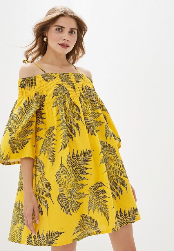 женское платье by swan, желтое
