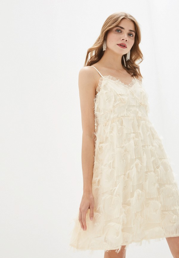 женское вечерние платье by swan, бежевое
