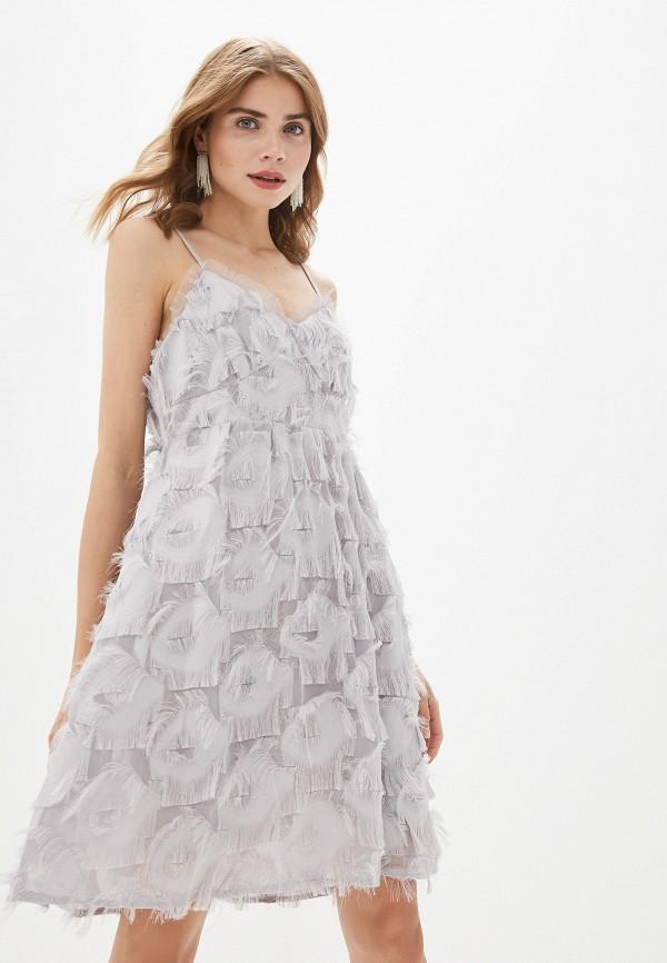женское вечерние платье by swan, серое