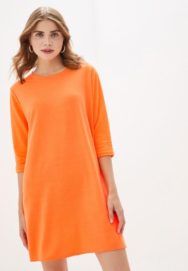 женское повседневные платье by swan, оранжевое