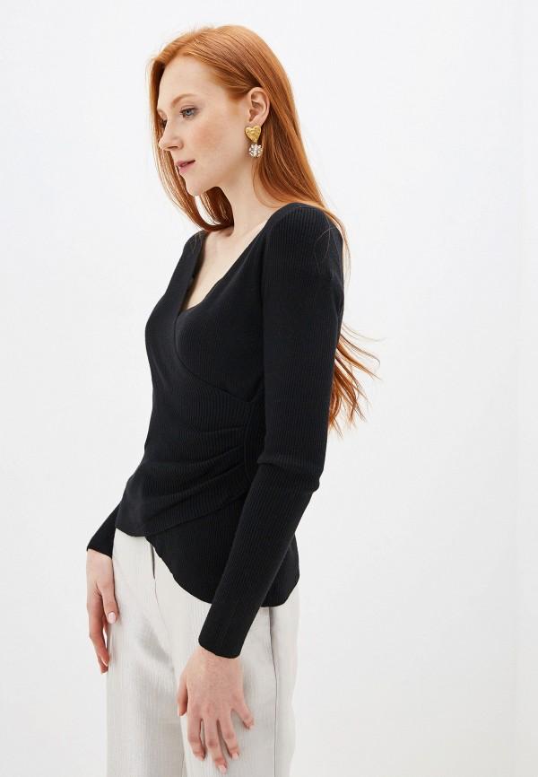 женский пуловер by swan, черный