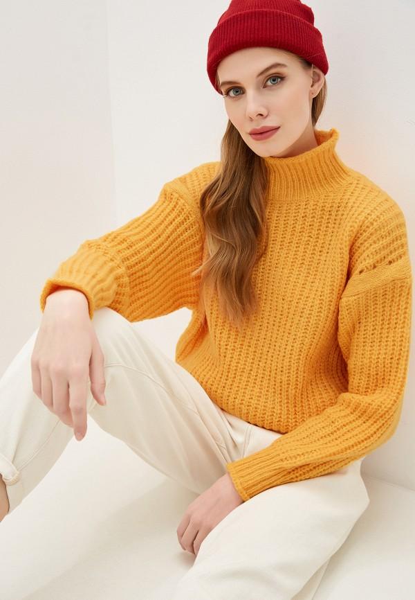 женский свитер by swan, желтый