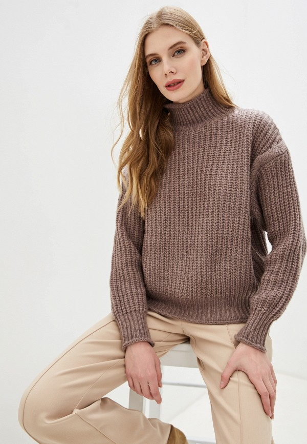 женский свитер by swan, коричневый