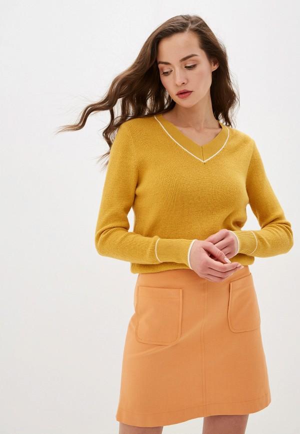 женский пуловер by swan, желтый