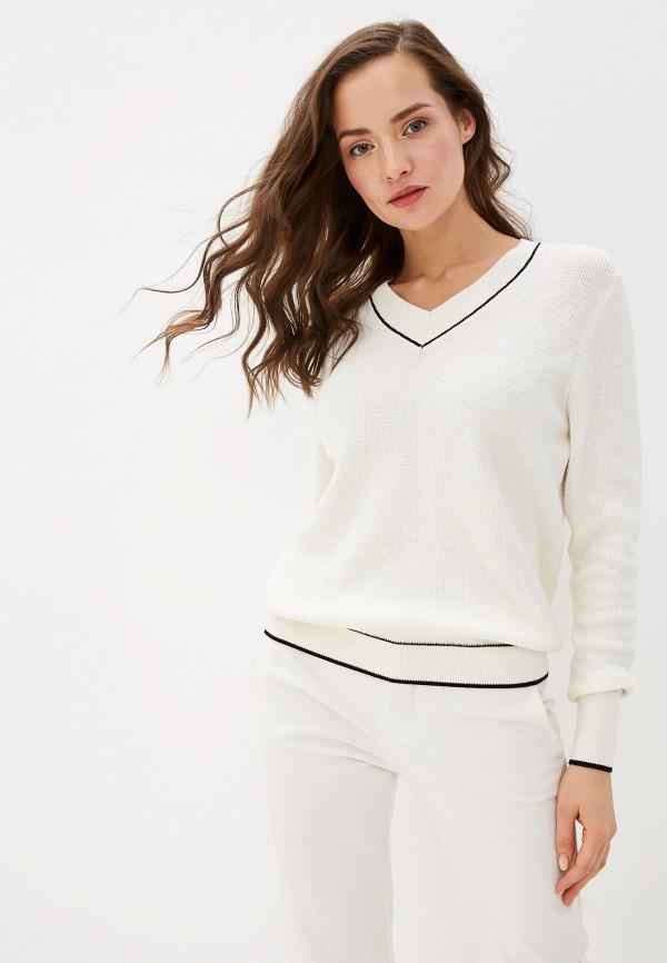 женский пуловер by swan, белый