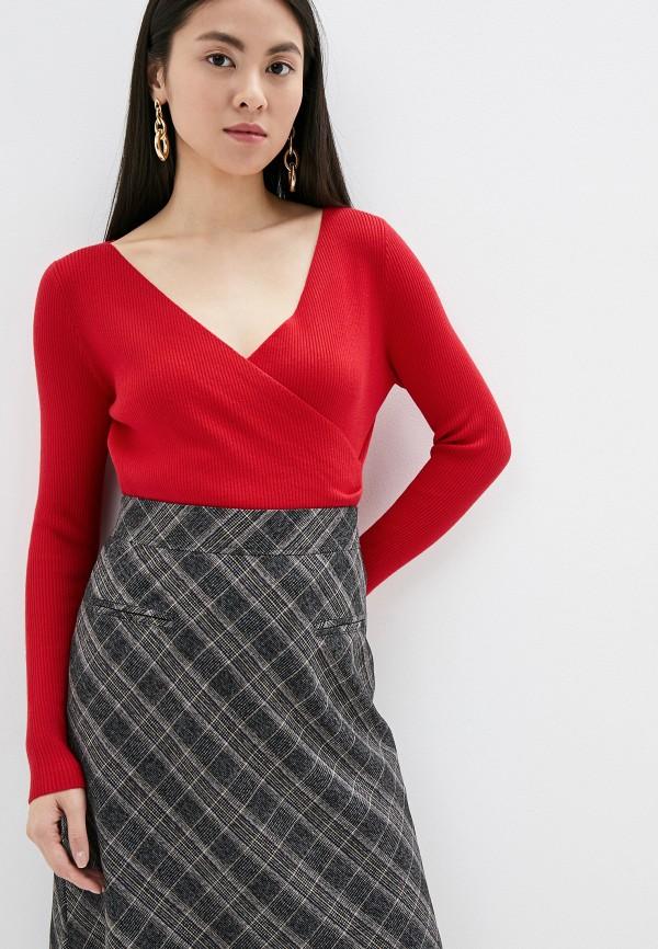женский пуловер by swan, красный