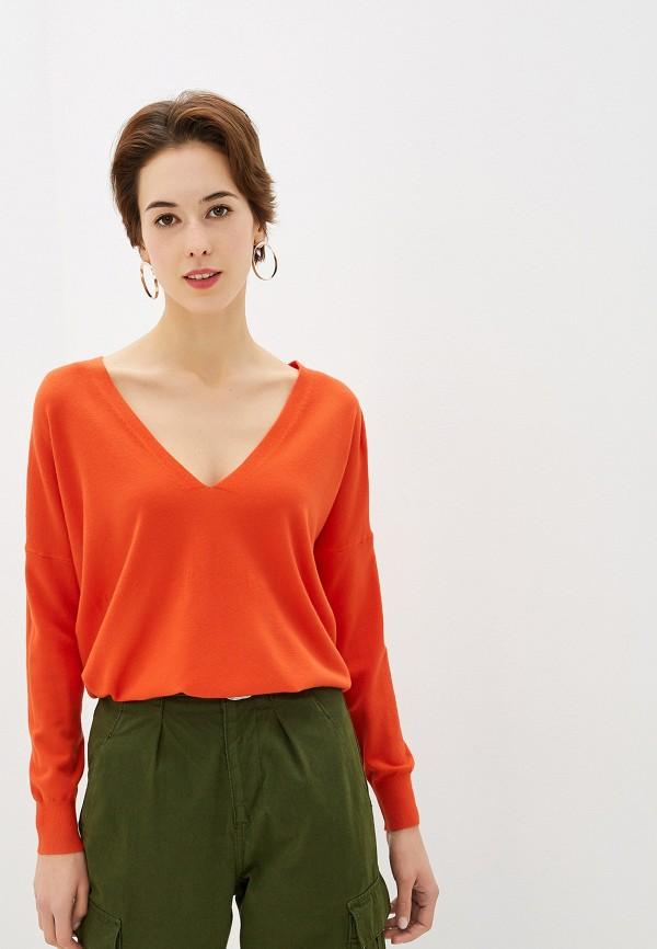 женский пуловер by swan, оранжевый