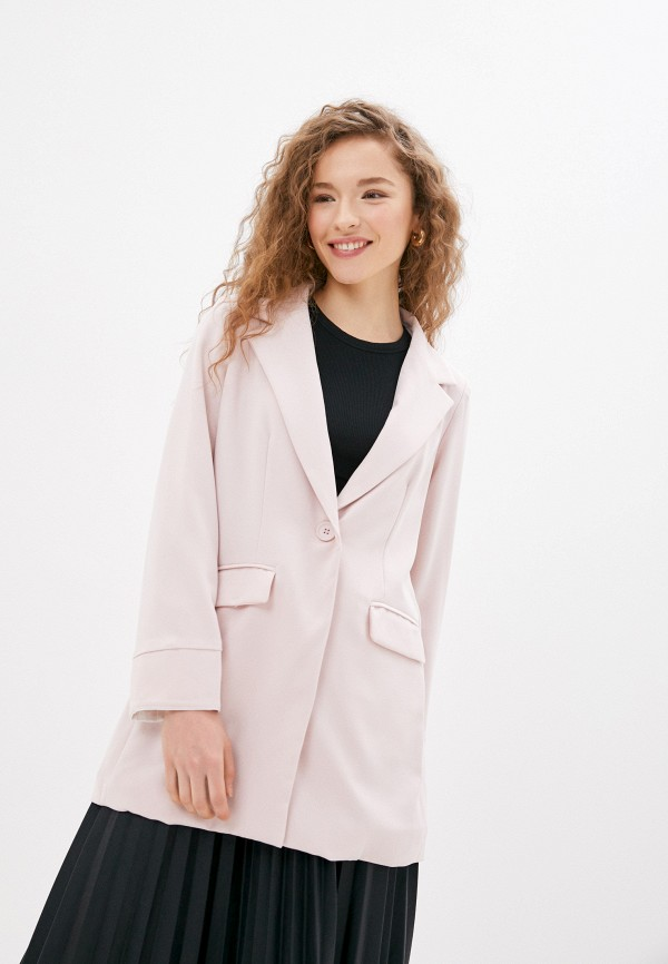 женский пиджак by swan, розовый