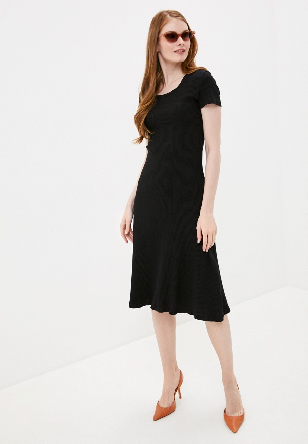 женское повседневные платье by swan, черное