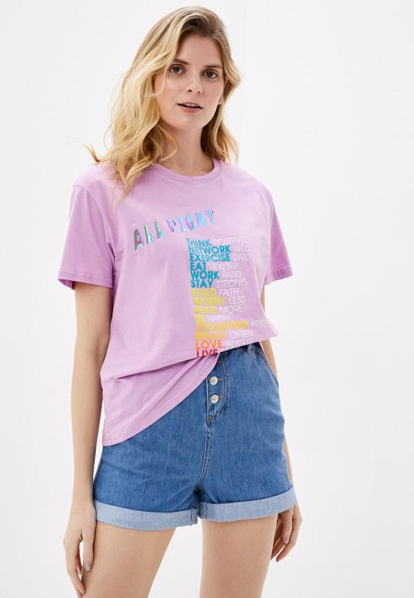 женская футболка by swan, фиолетовая