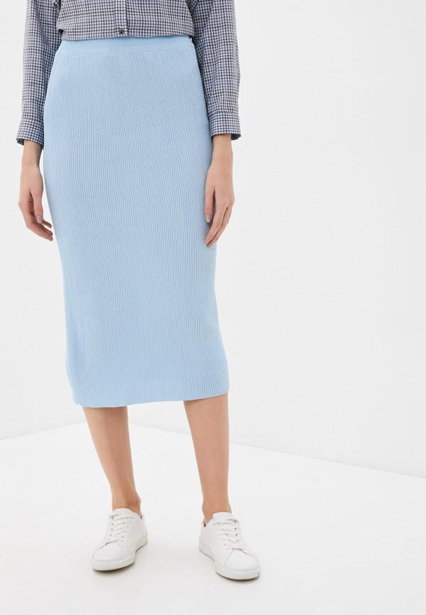 женская зауженные юбка by swan, голубая