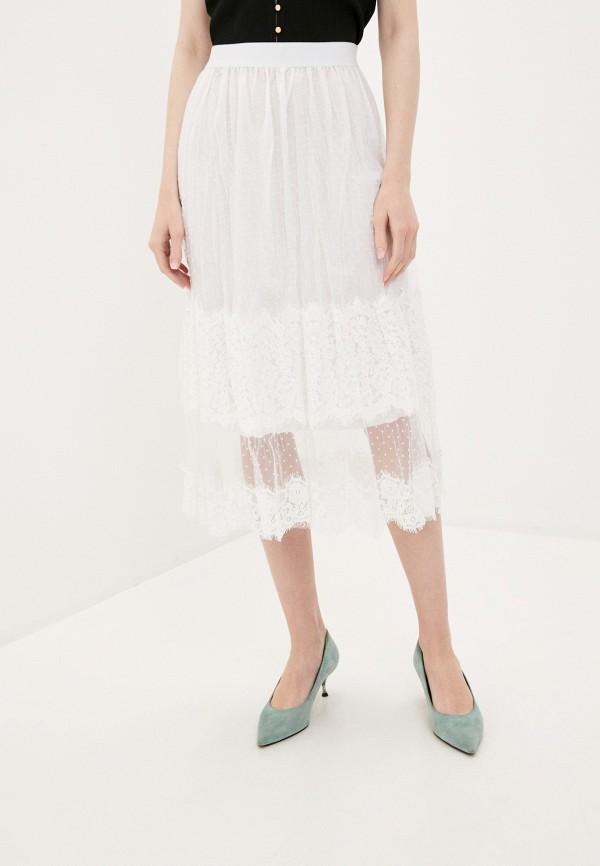 женская прямые юбка by swan, белая