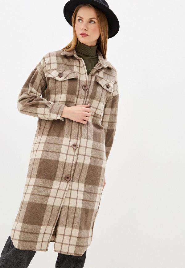 женское пальто by swan, бежевое