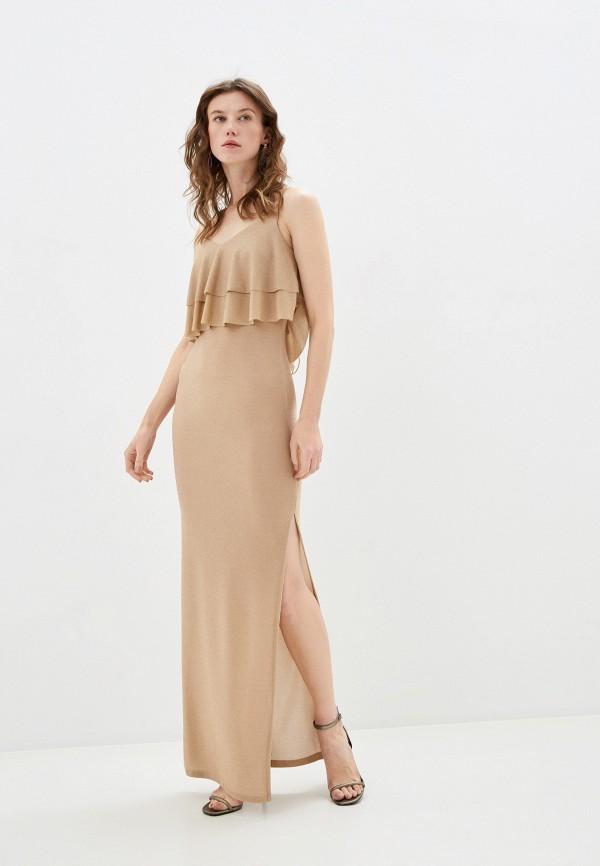 женское повседневные платье by swan, бежевое