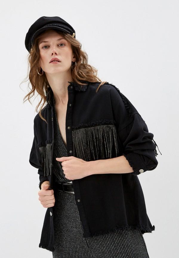 женская джинсовые рубашка by swan, черная