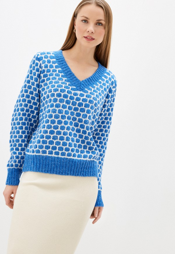 женский пуловер by swan, синий