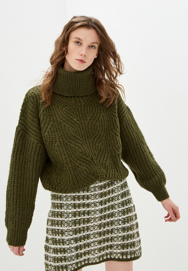 женский свитер by swan, хаки