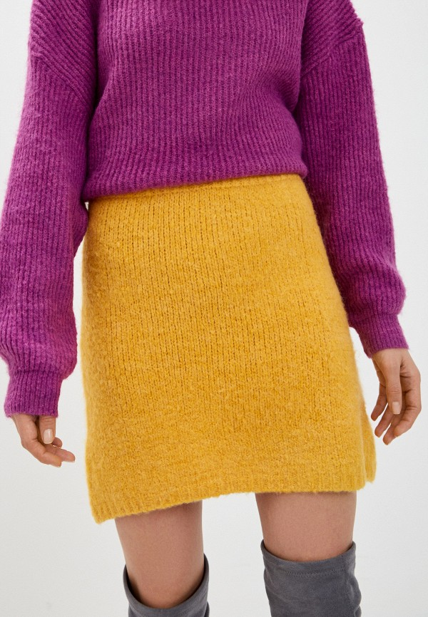 женская прямые юбка by swan, желтая
