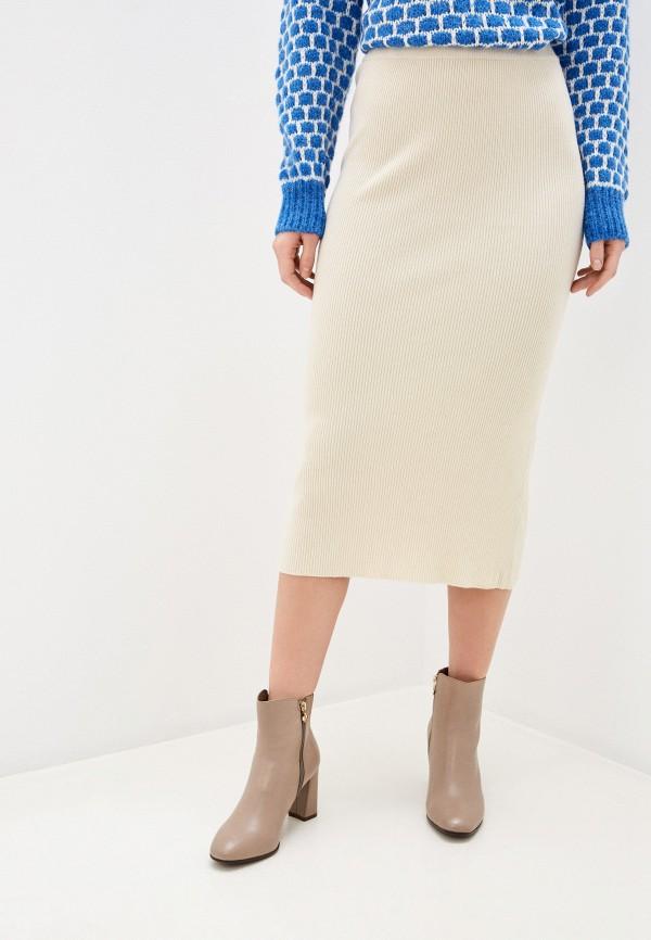 женская прямые юбка by swan, бежевая