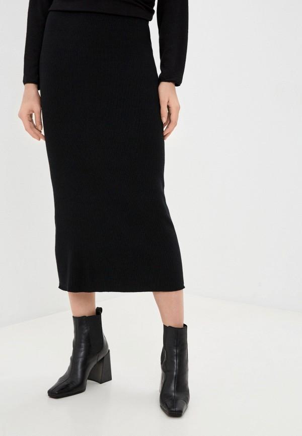 женская зауженные юбка by swan, черная