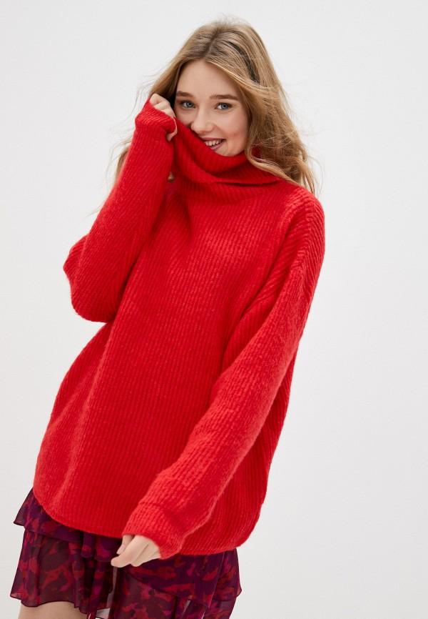 женский свитер by swan, красный