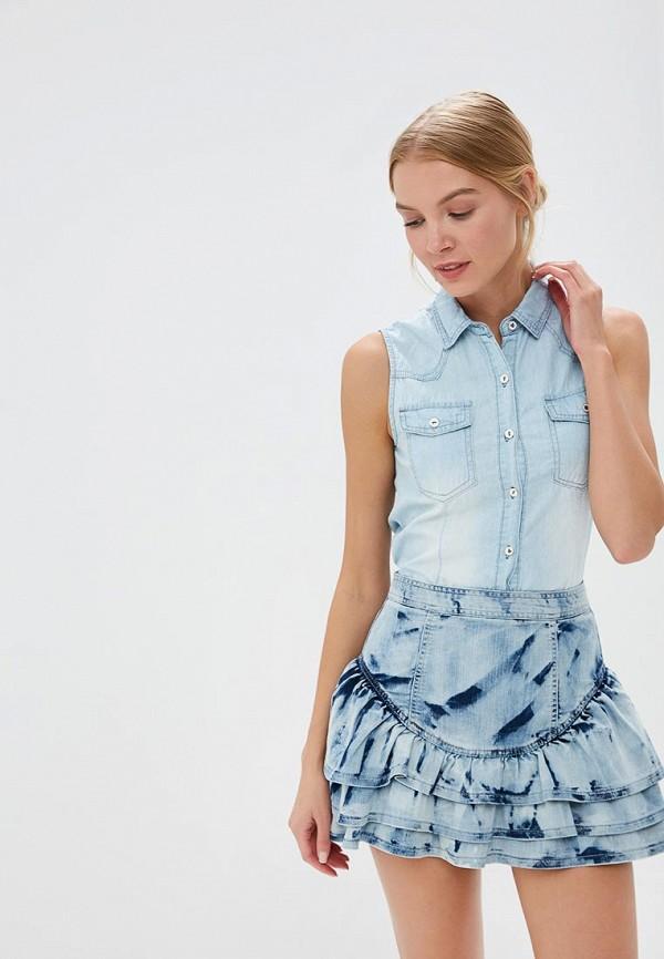 Купить Рубашка джинсовая By Swan, BY004EWRPM96, голубой, Осень-зима 2018/2019