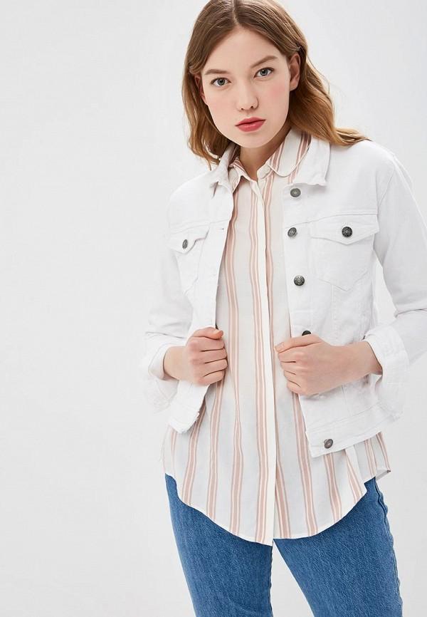 женская джинсовые куртка b.young, белая