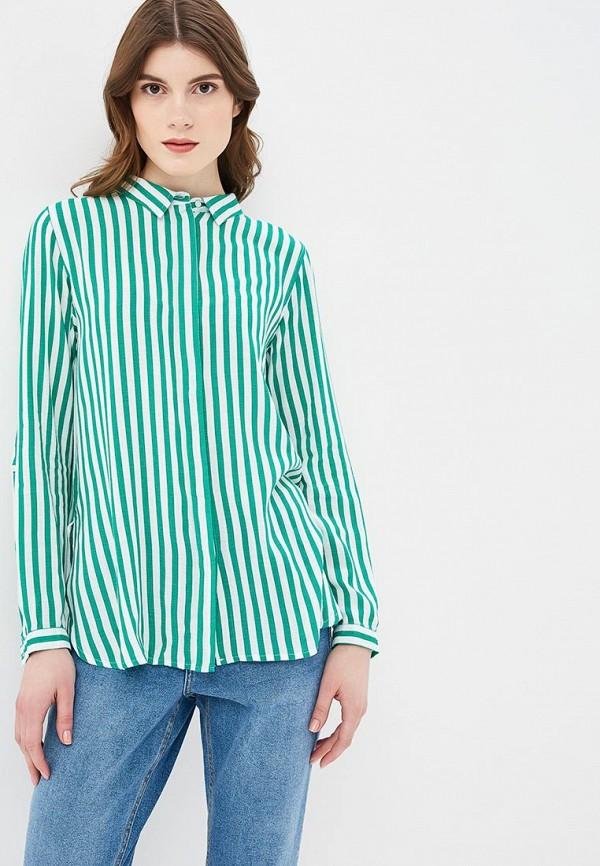 женская рубашка с длинным рукавом b.young, зеленая
