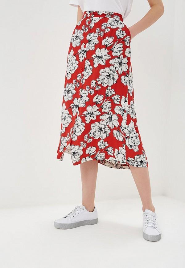 женская юбка b.young, красная