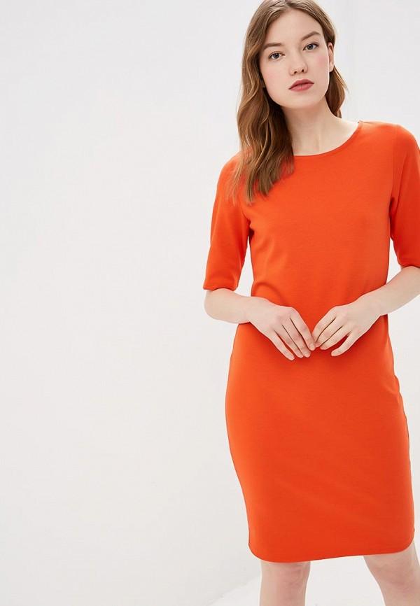женское повседневные платье b.young, красное