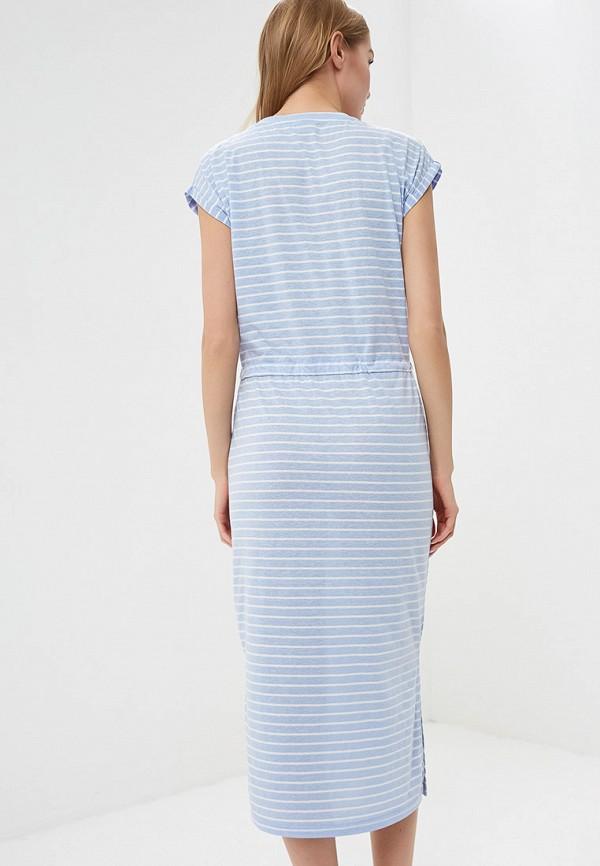 Фото 3 - женское платье b.young голубого цвета